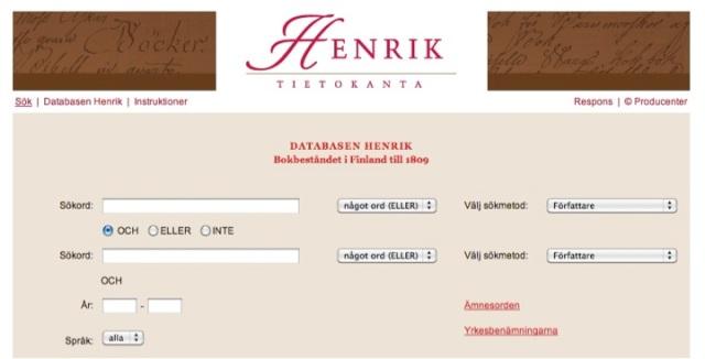 Databasen Henrik