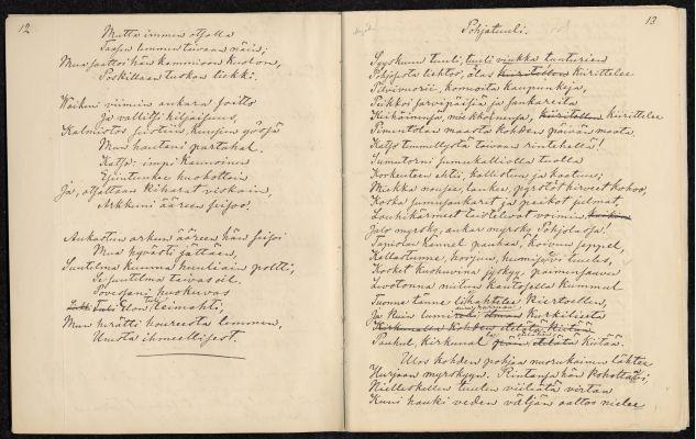Handskrift av Aleksis Kivi